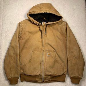 Women's carhartt distressed coat small